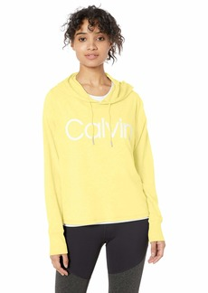 Calvin Klein Performance Women's Calvin Logo Long Sleeve Hoodie Tee