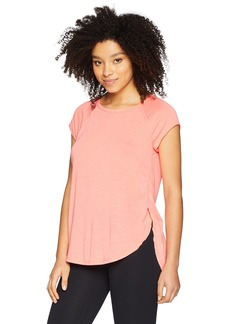 Calvin Klein Performance Women's Cap Sleeve Tee with Back Cut Out  X Large