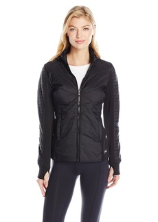 Calvin Klein Performance Women's Chevron Quilted Packable Hooded Jacket  M