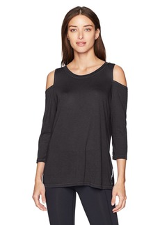 Calvin Klein Performance Women's Cold Shoulder Tie Back Tee  S