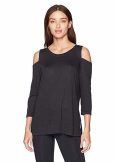 Calvin Klein Performance Women's Cold Shoulder Tie Back Tee  XL