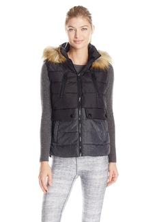 Calvin Klein Performance Women's Color Block Vest with Removable Hood  L