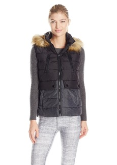 Calvin Klein Performance Women's Color Block Vest with Removable Hood  S