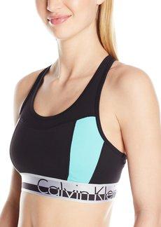 Calvin Klein Performance Women's Color Blocked Logo Elastic Bra  S
