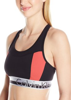 Calvin Klein Performance Women's Color Blocked Logo Elastic Bra  S