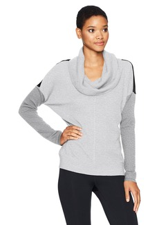 Calvin Klein Performance Women's Colorblock Cowl Neck Thermal Pullover  L