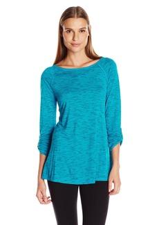 Calvin Klein Performance Women's Convertible Sleeve Space Dye Tunic  L