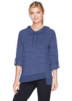 Calvin Klein Performance Women's Cowl Neck 3/4 Sleeve Asymmetric Hem Pullover  S