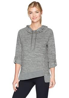 Calvin Klein Performance Women's Cowl Neck 3/4 Sleeve Asymmetric Hem Pullover  XL