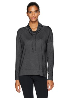 Calvin Klein Performance Women's Cowl Neck Drop Shoulder Seamed Pullover  L