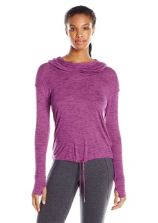 Calvin Klein Performance Women's Cowl Neck Hoodie Crop Top  arge