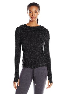 Calvin Klein Performance Women's Cowl Neck Hoodie Crop Top