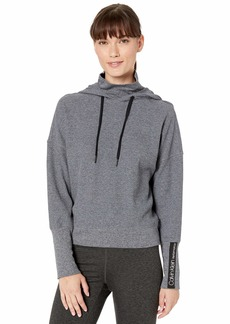 Calvin Klein Performance Women's Crop Turtleneck Hoodie Pullover