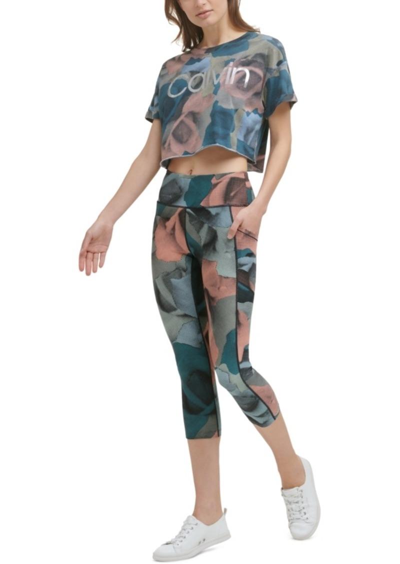 Calvin Klein Performance Women's Cropped Printed T-Shirt