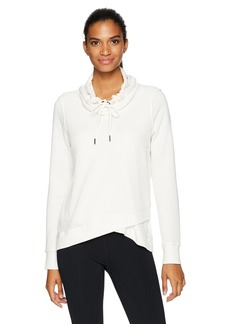 Calvin Klein Performance Women's Crossover Cowl Neck Pullover W/ Thermal  L