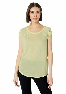 Calvin Klein Performance Women's Curved Hem Tee with Back Cut Out