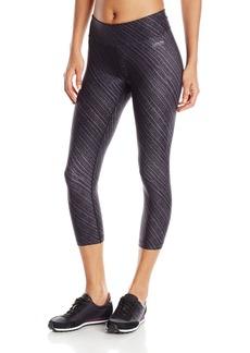 Calvin Klein Performance Women's Diagonal Ridges Print Crop Legging  X-Large