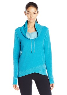 Calvin Klein Performance Women's Distressed Fleece and Thermal Top