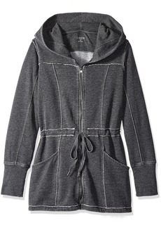 Calvin Klein Performance Women's Distressed Fleece Hooded Walker Coat