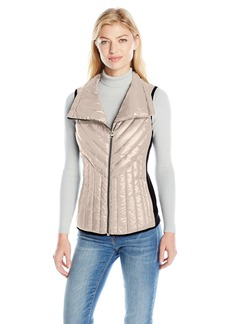 Calvin Klein Performance Women's Down Filled Asymmetric Collar Quilted Vest  L
