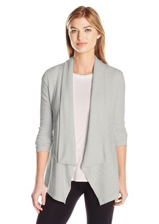 Calvin Klein Performance Women's Drape Front Cardigan with Rib Sleeves  S