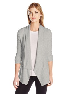 Calvin Klein Performance Women's Drape Front Cardigan with Rib Sleeves  XL