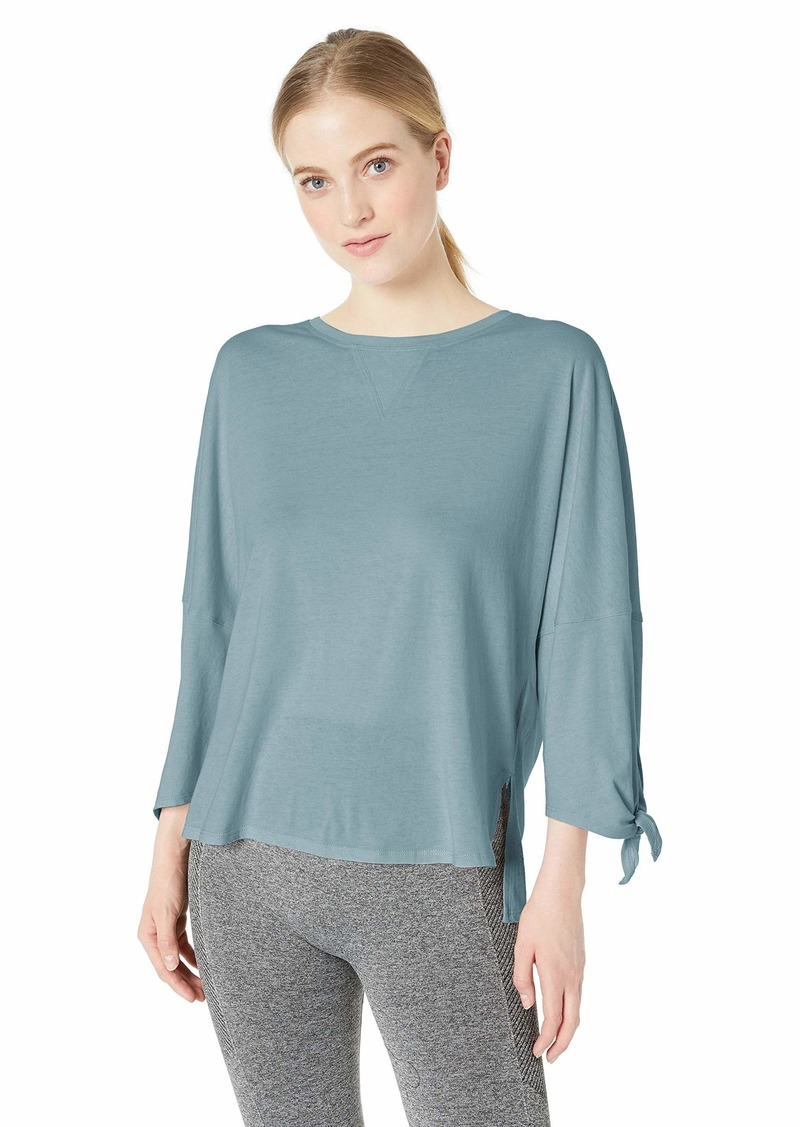 Calvin Klein Performance Women's Dropped Shoulder Tie Sleeve Tee sea Glass
