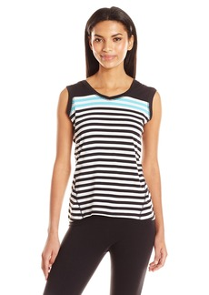 Calvin Klein Performance Women's Dynamic Stripe Sleeveleshortsleeve Hoodie  M