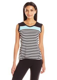 Calvin Klein Performance Women's Dynamic Stripe Sleeveleshortsleeve Hoodie  S
