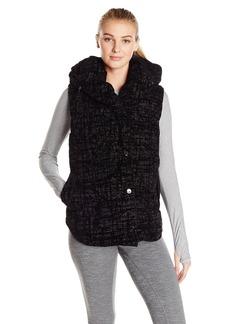 Calvin Klein Performance Women's Flocked Shawl Collar Puff Vest