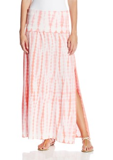 Calvin Klein Performance Women's Foldover Waist Tie Dye Maxi Skirt