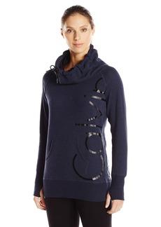 Calvin Klein Performance Women's Funnel Neck Logo Sweatshirt  M