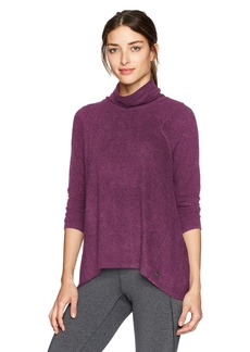 Calvin Klein Performance Women's High Lo Mock Neck Pullover  M