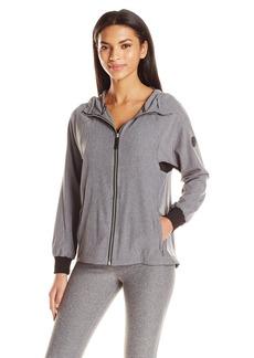 Calvin Klein Performance Women's High Low Hem Hood Zip up Raglan Jacket  M