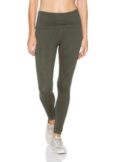Calvin Klein Performance Women's High Waist Foldover Waistband Full Length Legging  L