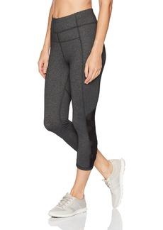 Calvin Klein Performance Women's High Waist Side Mesh Criss Cross Piecing Crop Tight  S