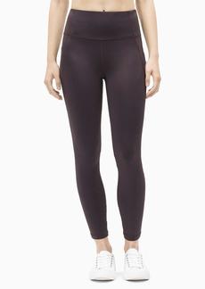Calvin Klein Performance Women's High Waist Side Pocket Criss-Cross Elastic 7/8 Tight