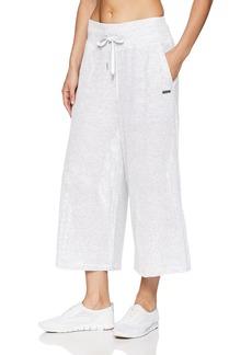 Calvin Klein Performance Women's High Waist Wide Leg Crop Pant