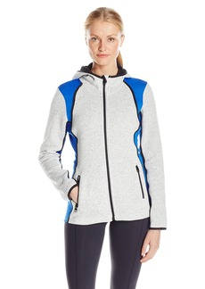 Calvin Klein Performance Women's Hooded Sweater Fleece Jacket Surf The Web L