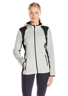 Calvin Klein Performance Women's Hooded Sweater Fleece Jacket  L