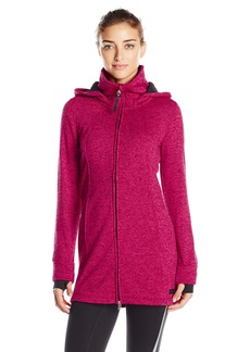 Calvin Klein Performance Women's Hooded Sweater Knit Fleece Walker Coat