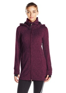 Calvin Klein Performance Women's Hooded Sweater Knit Fleece Walker Coat
