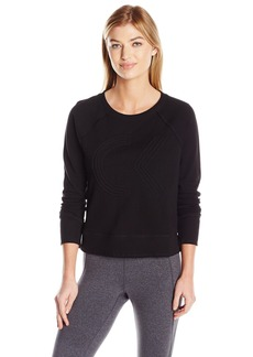 Calvin Klein Performance Women's Icon Corded Logo Crop Pullover  L
