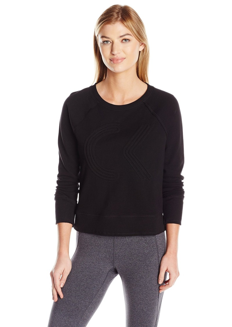 Calvin Klein Performance Women's Icon Corded Logo Crop Pullover  L
