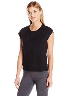 Calvin Klein Performance Women's Icon Corded Logo Crop Sleeveleshortsleeve Sweatshirt  M