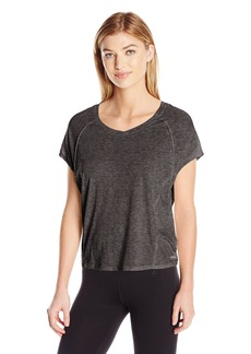 Calvin Klein Performance Women's ICY Wash Split Back Seamed Tee  M