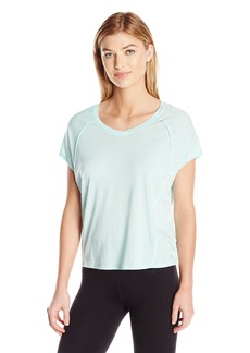 Calvin Klein Performance Women's ICY Wash Split Back Seamed Tee  XL
