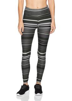 Calvin Klein Performance Women's Journey Stripe Full Length Tight W/Back Shirring  XL