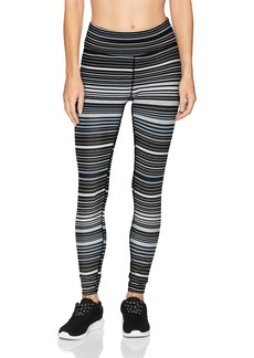 Calvin Klein Performance Women's Journey Stripe Full Length Tight with Back Shirring  L