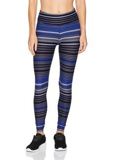 Calvin Klein Performance Women's Journey Stripe Full Length Tight With Back Shirring  XL